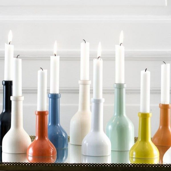Wine Bottles Cut Painted Candle Holders Crafty