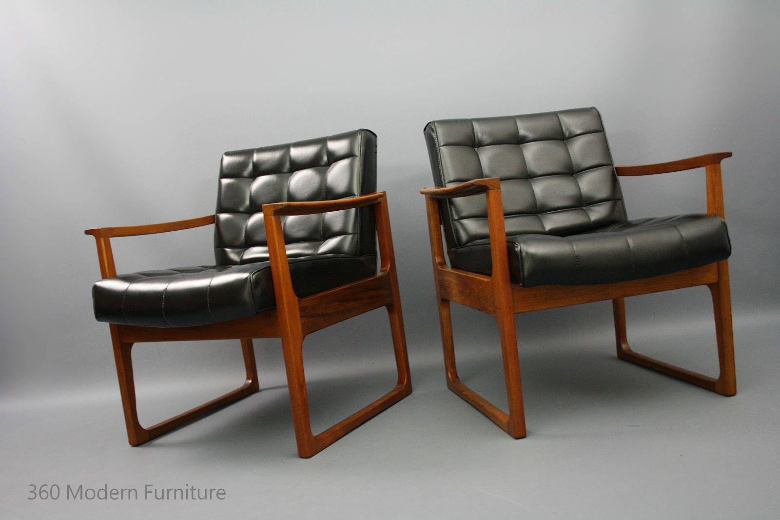 Mid Century Armchairs X 2 Gerald Easden For Module 1970s Retro Vintage Lounge Chairs Danish Era In Vic 360 Modern Furniture Ebay
