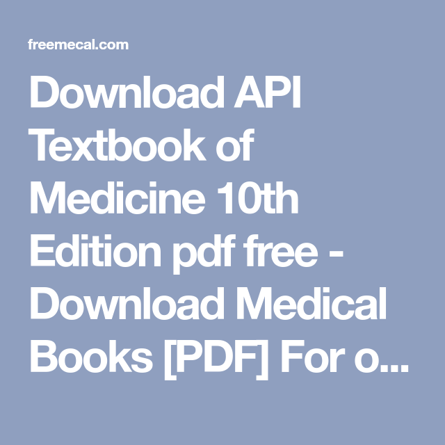 api textbook of medicine 10th edition pdf free download