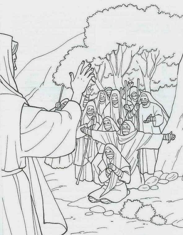ME ABURRE LA RELIGIÓN: DIEZ LEPROSOS SON SANADOS | de espaldas ...