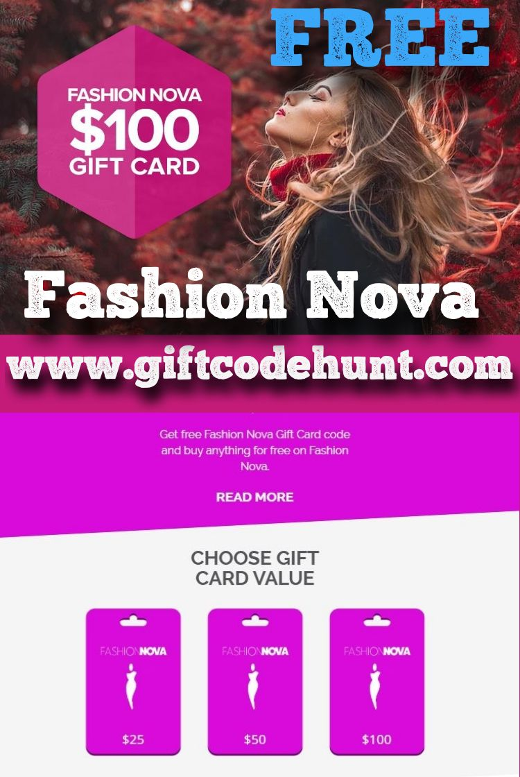 Get 100 free fashion nova gift card and buy anything for