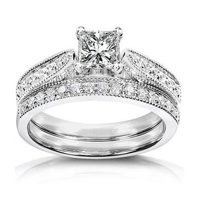 Attirant Pleasing Antique Wedding Ring Set Jeenjewels White Gold Wedding Rings For  Women