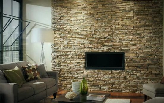 yet sturdy home interior wall stone veneer design by eldorado stone rock wall designs - Rock Wall Design