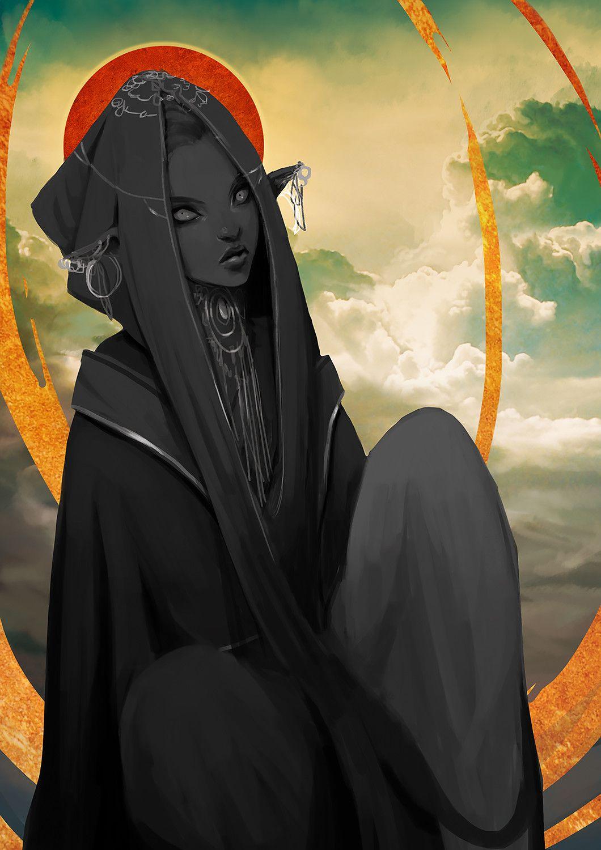 Darkness cindy handoyo art cg art fantasy