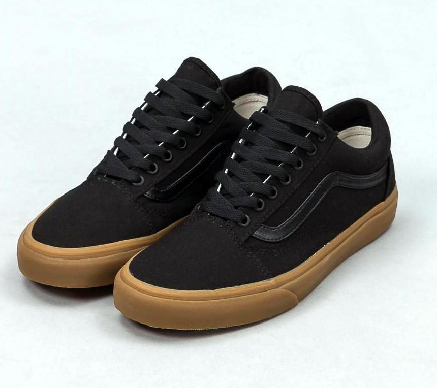 650cb721354a Vans Old Skool Canvas Gum Black Black Light Gum Mens Womens Shoes Sizes  4.5-12