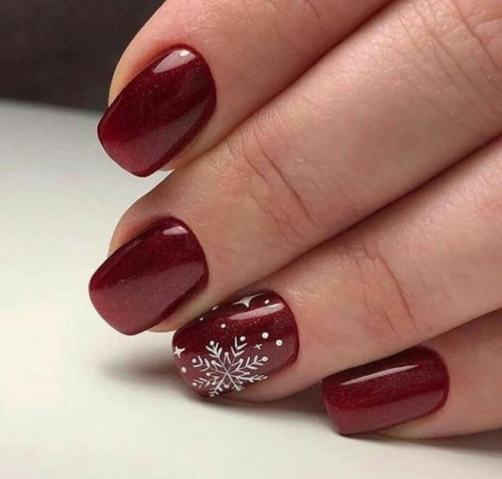 New Year Red Nail Styles To Inspire You 2020 simple and