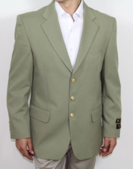 SKU#Bolt_03 Mens Three Button Mint ~ Sage Leave~Olive~Grey Blazer $149