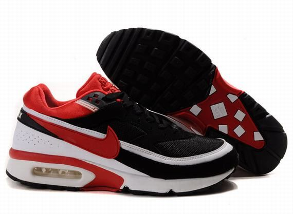 Mens Nike Air Max Classic BW Black Red Mens Shoes