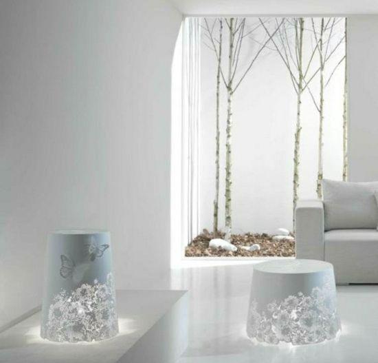 Schicke weiße Leuchten-italienische Möbel-Wohnzimmer | It. Möbel ...
