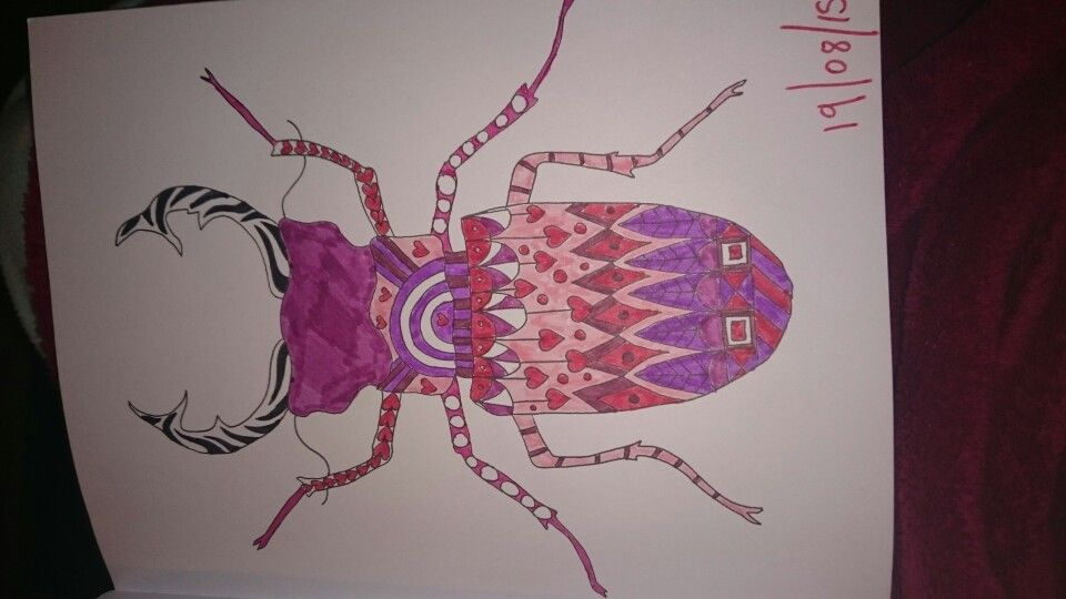 Animaux A Colorier Sarah Bigwood Love Bug Beetle Ilovetea86