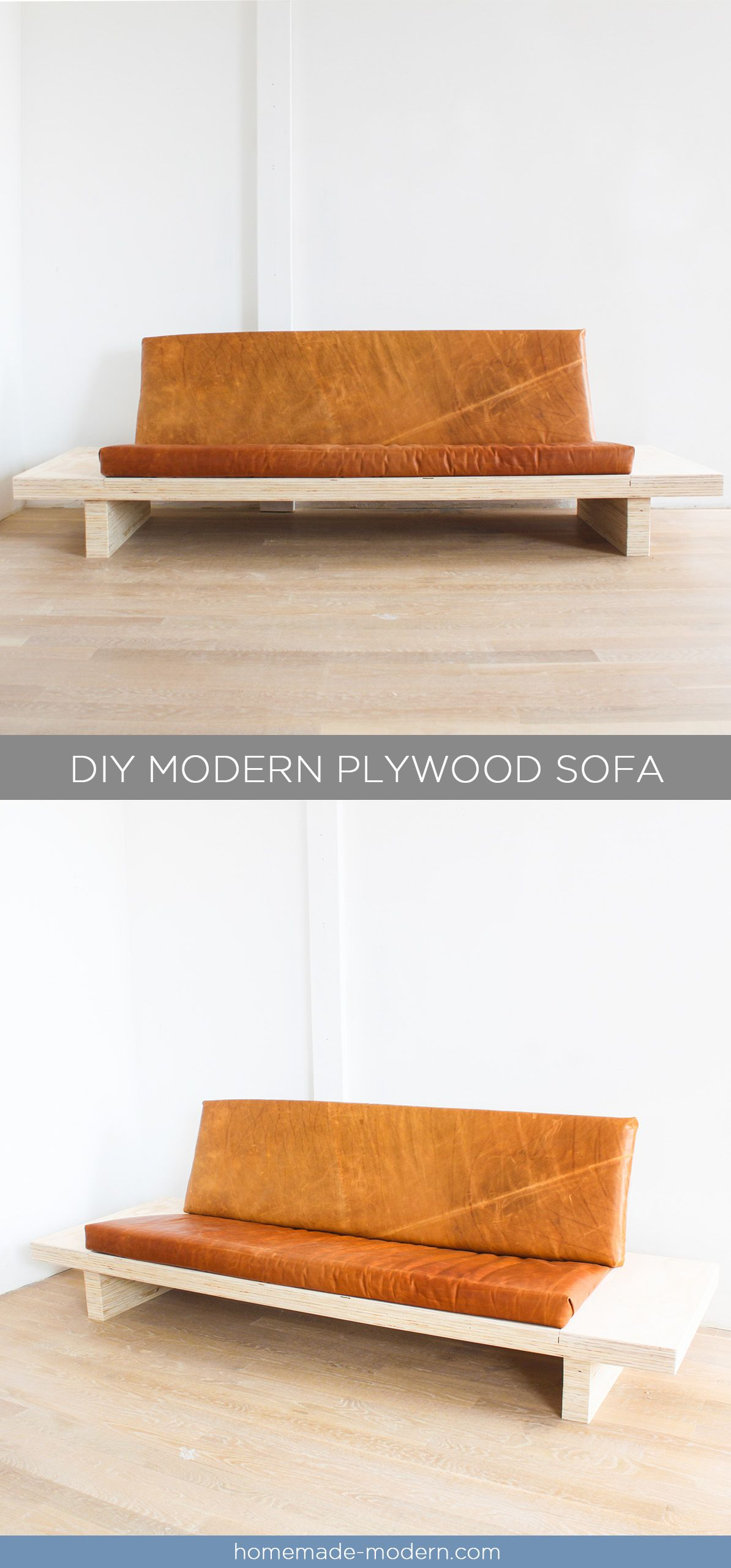 This Diy Modern Plywood Sofa Is Made Out Of 2 1 2 Sheets Of Plywood From Home Depot Full Instructions C Diy Modern Furniture Homemade Modern Plywood Table