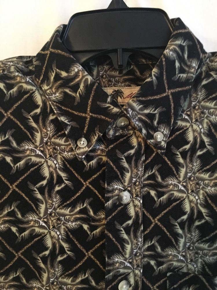 Joe Marlin Men's Shirt Hawaiian Exploding Palm Trees Size Large 100% Cotton #JoeMarlin #Hawaiian