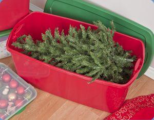 Christmas Tree Storage Tote Christmas Storagesterilite 50 Gallon Tote Box  Organize