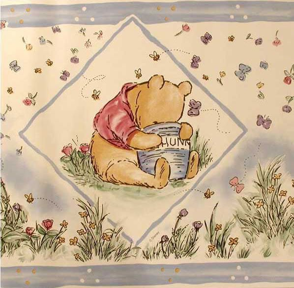 Classic Pooh wallpaper border! Cloth Diapers & Parenting