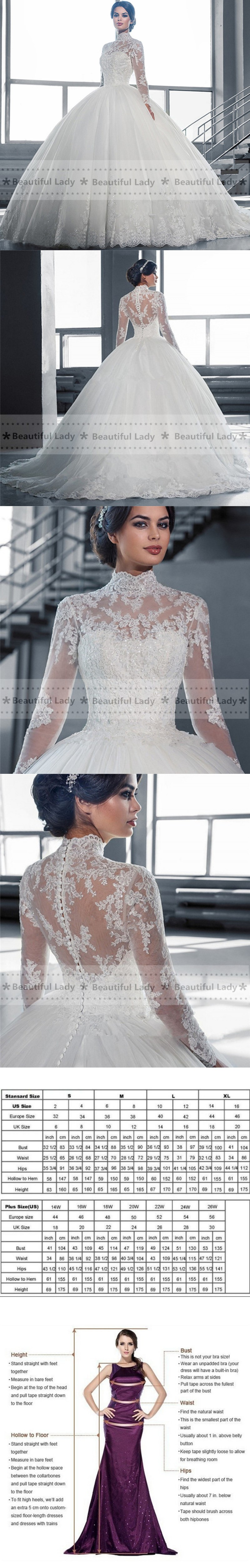 Elegant hijab wedding dress high neck long sleeve sheer lace
