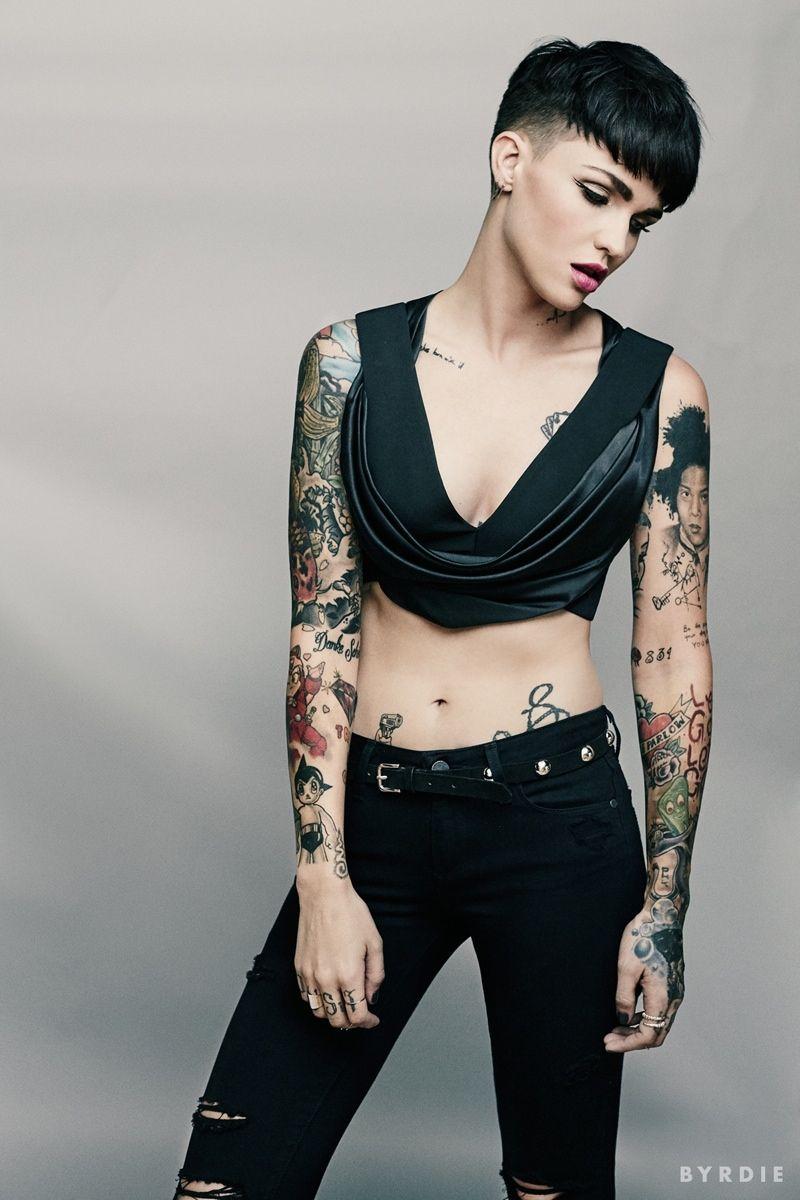 OITNBs Ruby Rose Flaunts Her Tattoos in Byrdie Shoot, Talks Hair