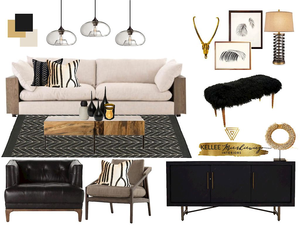 Black And Gold Room Inspiration For Your Modern Living Room