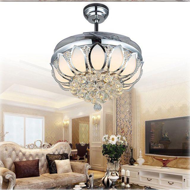 Led Folding Lamps Modern Fan358 Aliexpress BladesFans qzSpMVUG