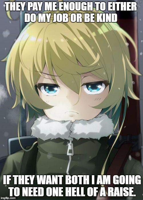 Tanya Meme Generator Imgflip Anime Tanya The Evil Anime