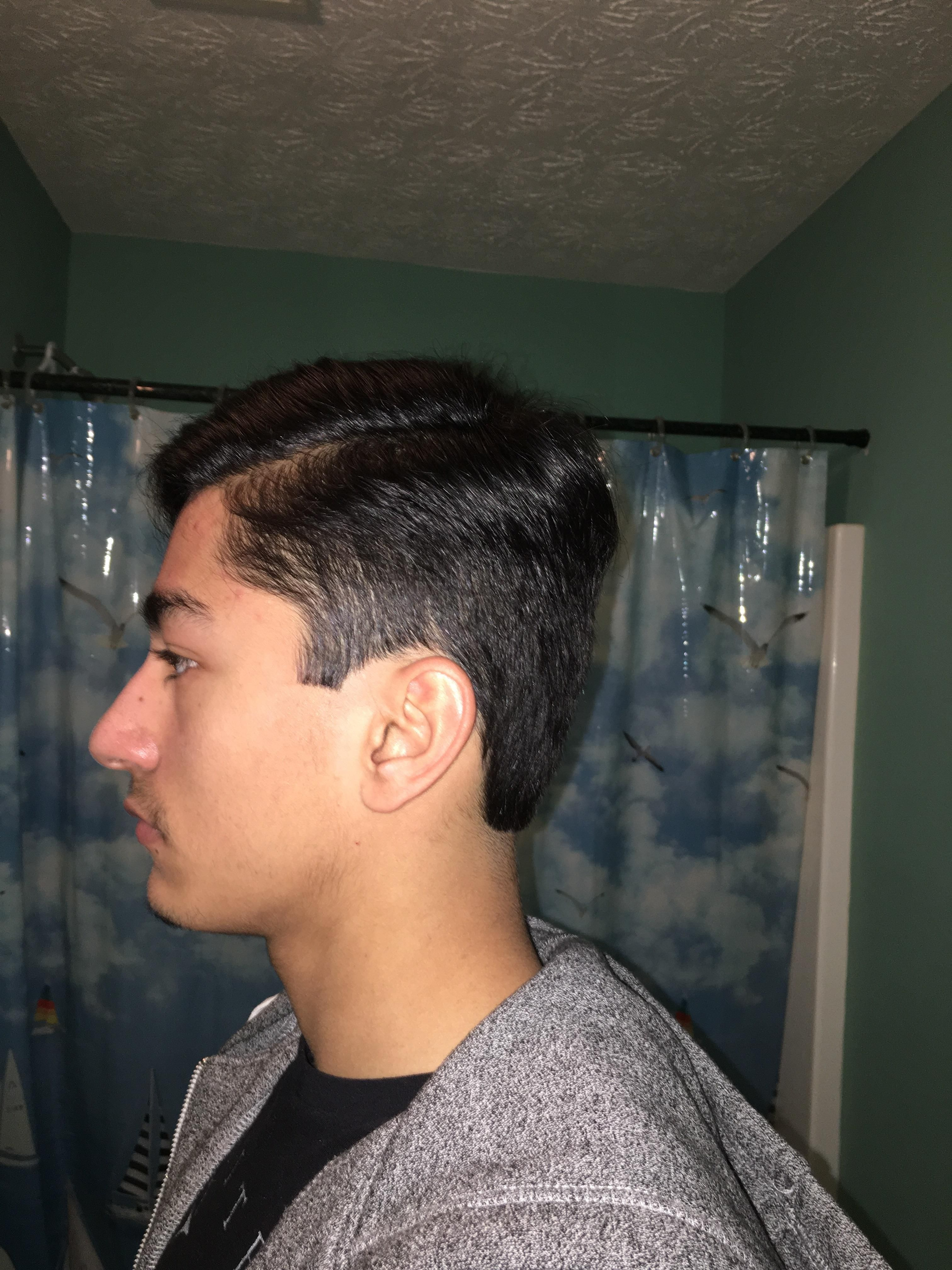 is my hair part too wide/ does this suit me or should i get a
