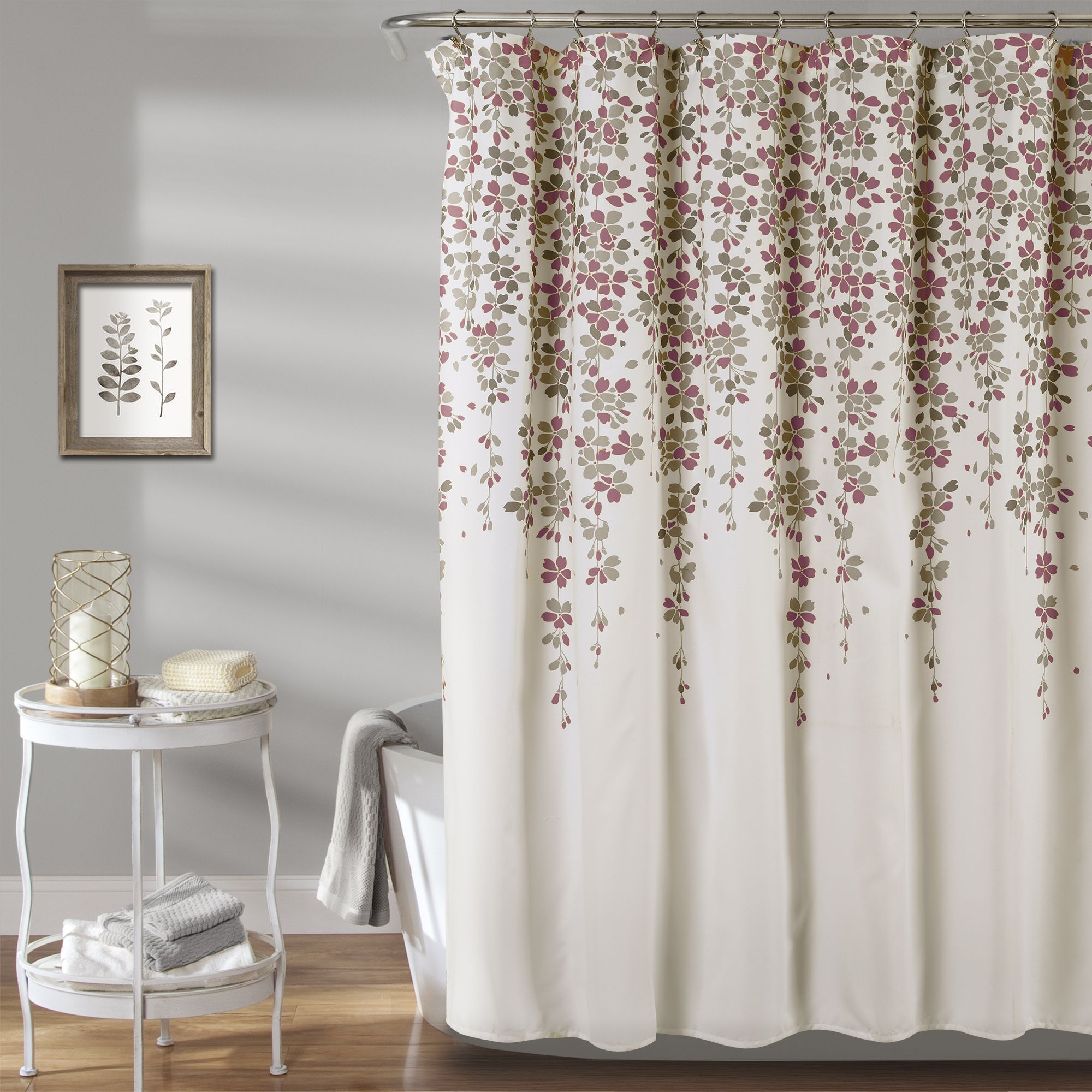 Weeping Flower Shower Curtain Flower Shower Curtain Purple