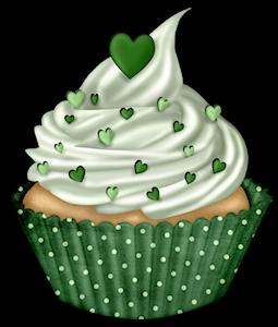 Birthday cake green. Cupcake clip art cupcakes