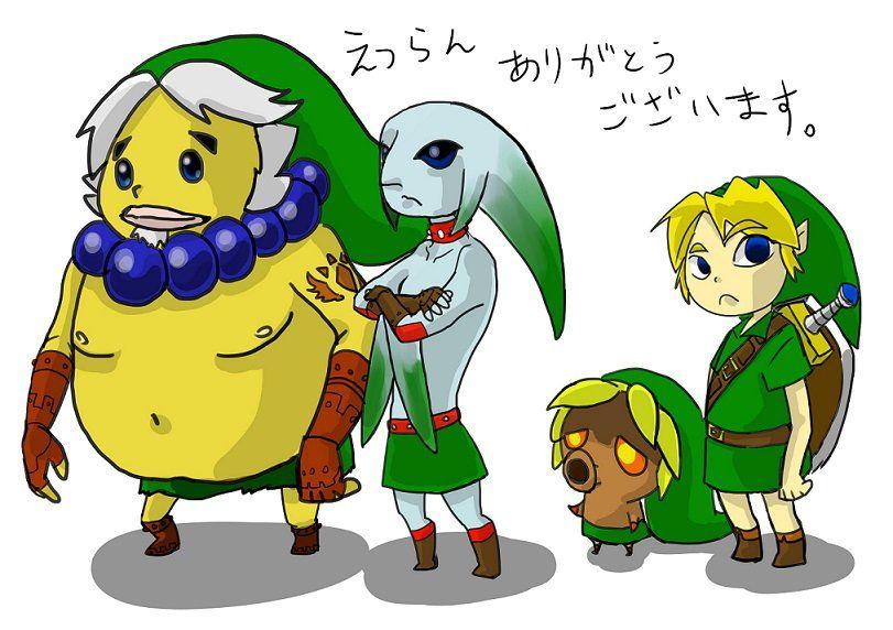Zelda Majora's Mask Link's transformations, by @natsukusabobo66   #MM3D