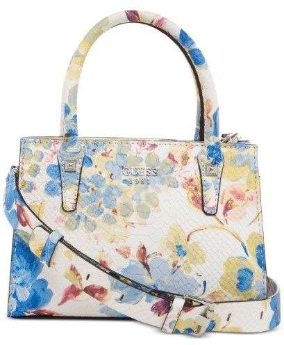 GUESS Loree Mini Satchel, Blue Floral | Products | Guess