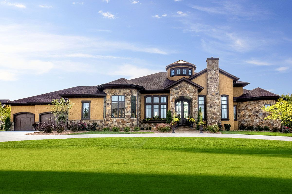 Plan 890122ah Luxury Tuscan House Plan With Finished Walkout Basement Tuscan House Plans Tuscan House Ranch House Plan