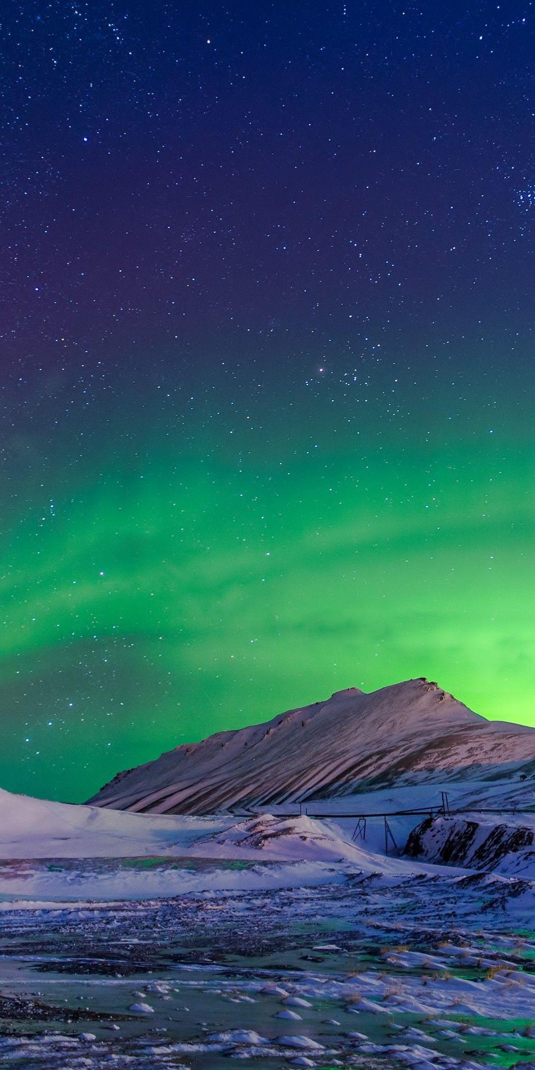 Aurora Borealis Winter Wallpaper [1080x2160] Hátterek