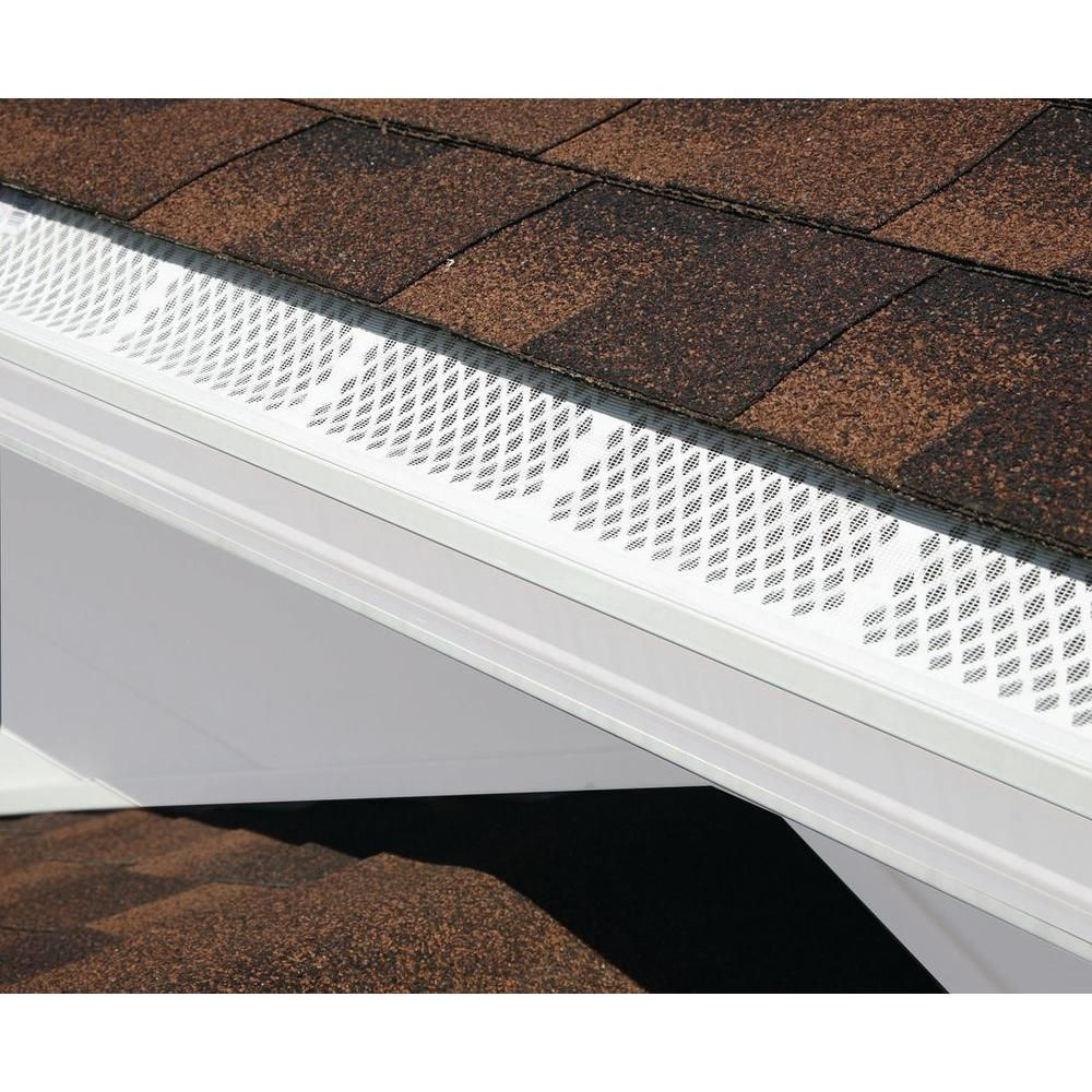 Amerimax Home Products 3 Ft White Snap In Filter Gutter Guard 86270bx The Home Depot Gutter Guard Gutters Gutter