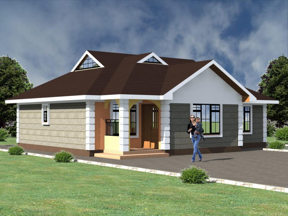 4 Bedroom Design 1170b In 2020 Bungalow House Plans Modern Bungalow House Design Modern Bungalow House