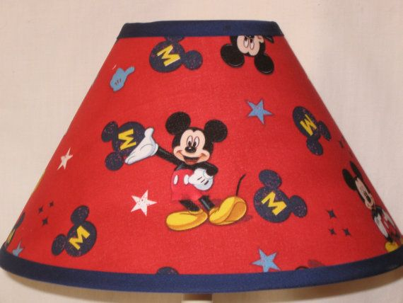 Disney mickey mouse red fabric childrens lamp shade mickey mouse disney mickey mouse red fabric childrens lamp shade aloadofball Gallery