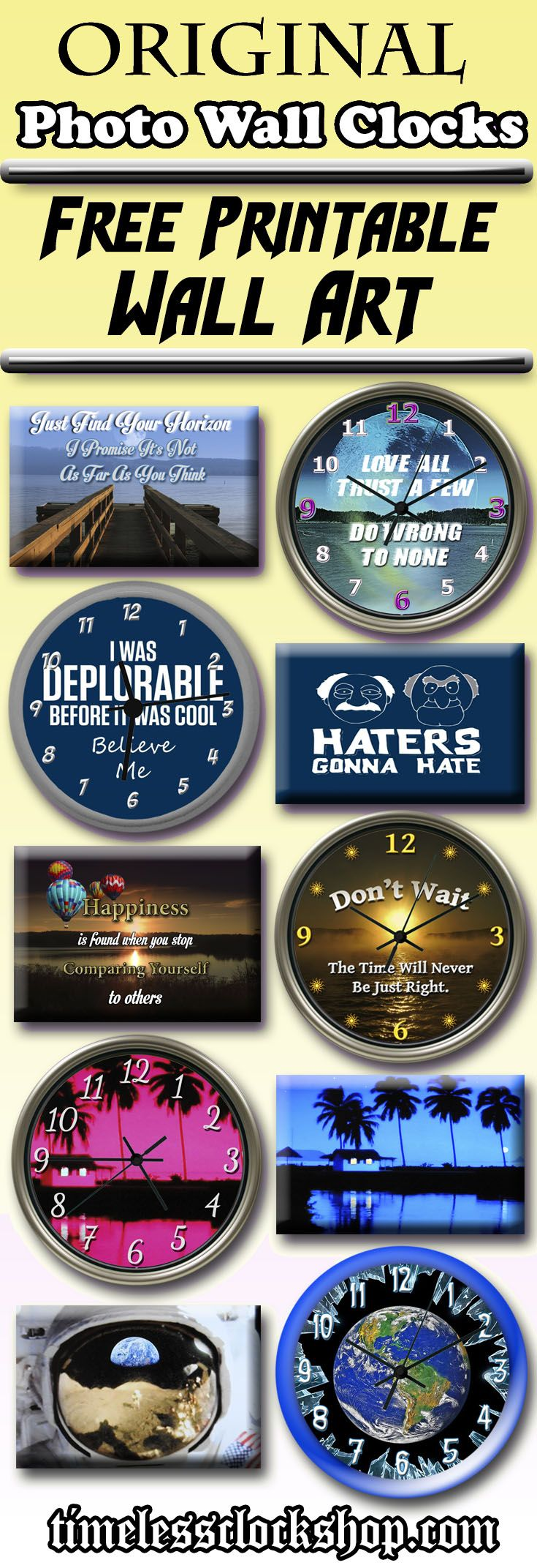 Make your photo wall decor absolutely original with a make your photo wall decor absolutely original with a personalized wall clock if you amipublicfo Gallery