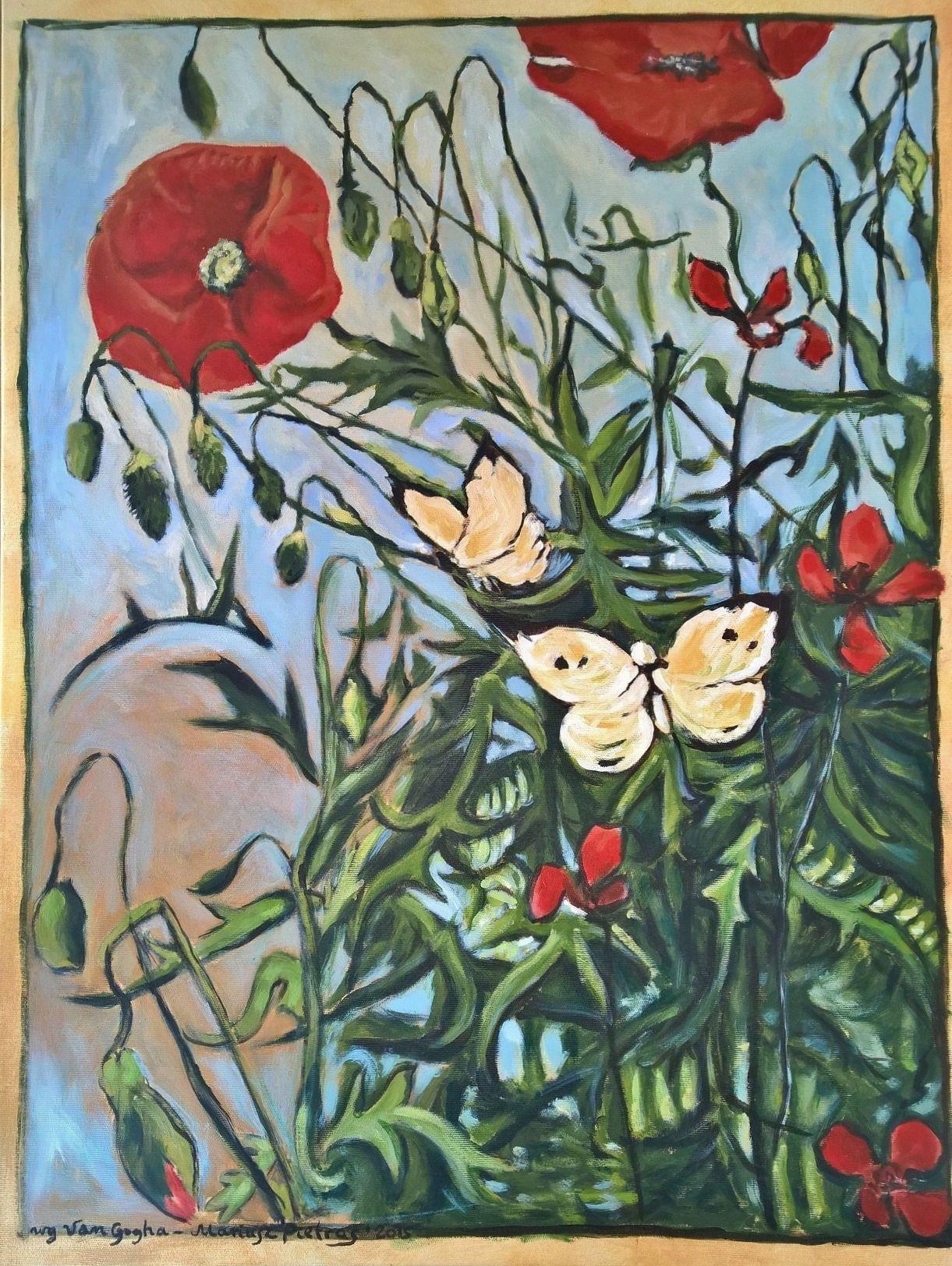 copy [Vincent Van Gogh, Poppies And Butterflies]