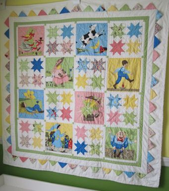 Mother Goose And Friends Nursery Rhyme Vintage Baby Crib