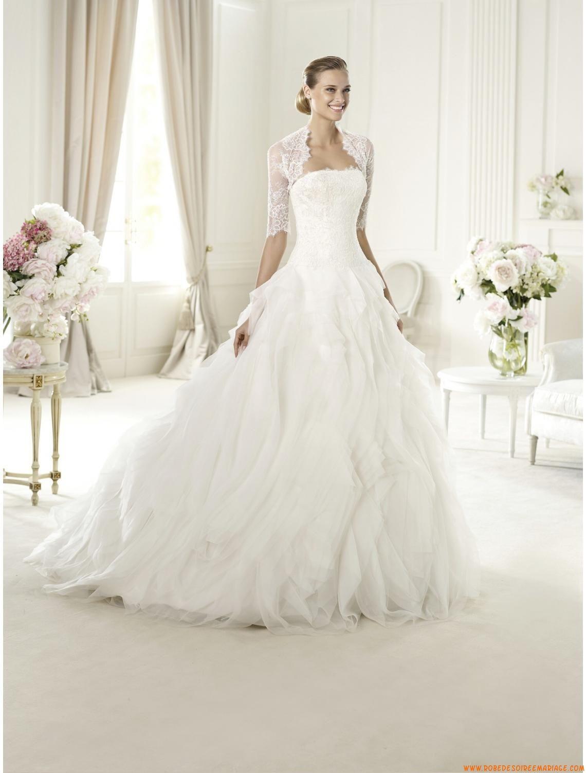 robe de mari e originale organza avec bol ro dentelle robe de mari e pinterest bolero. Black Bedroom Furniture Sets. Home Design Ideas