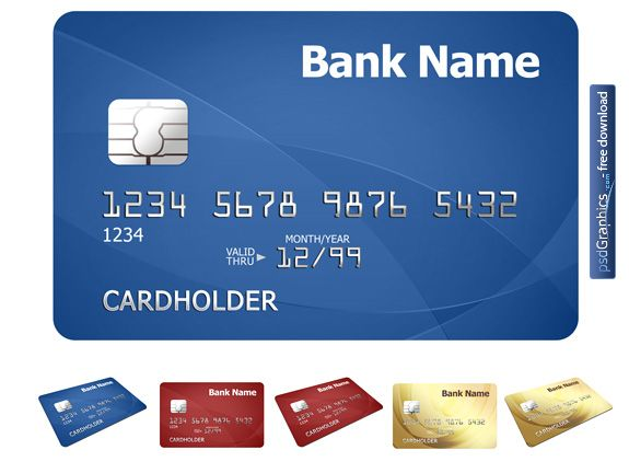 Credit card PSD template I think you have a credit card with - credit card template word