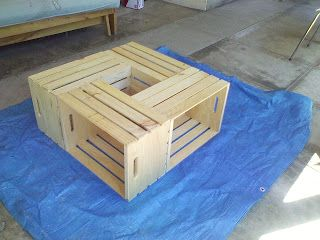 but, i digress: wooden crate coffee table - day 2 | do it