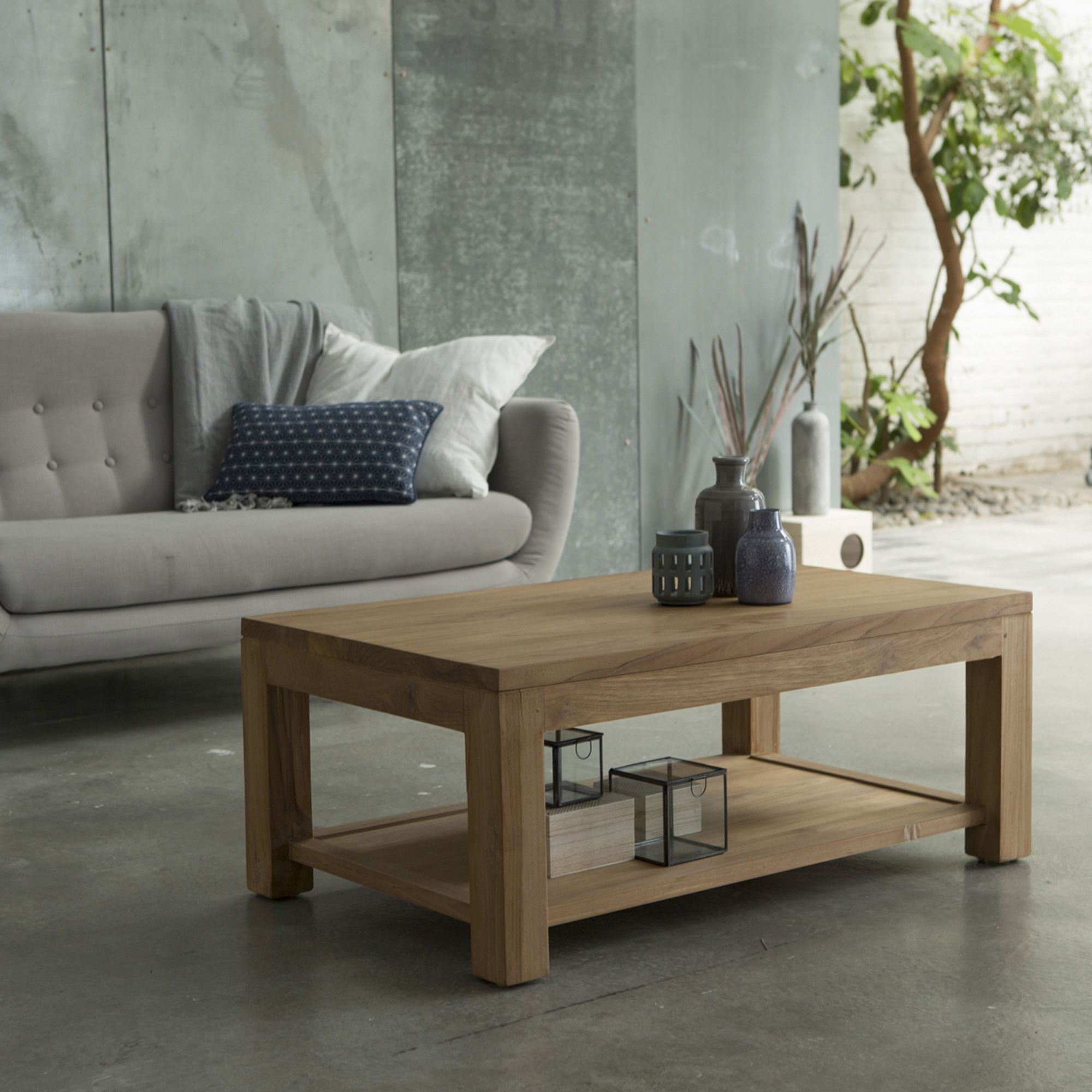 Eve Teak Coffee Table 100x60 In 2020 Teak Coffee Table Table
