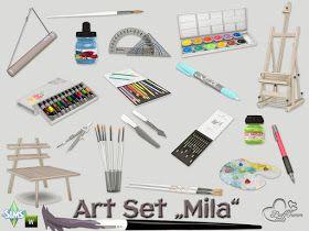 Photo of Sims 4 CC's – The Best: Mila Art Hobby Set by BuffSumm