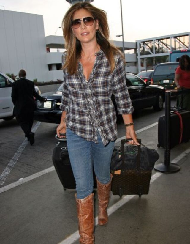 ae0ec3592e9 Daisy Fuentes. Love this look. Gotta get my cowboy boots already ...