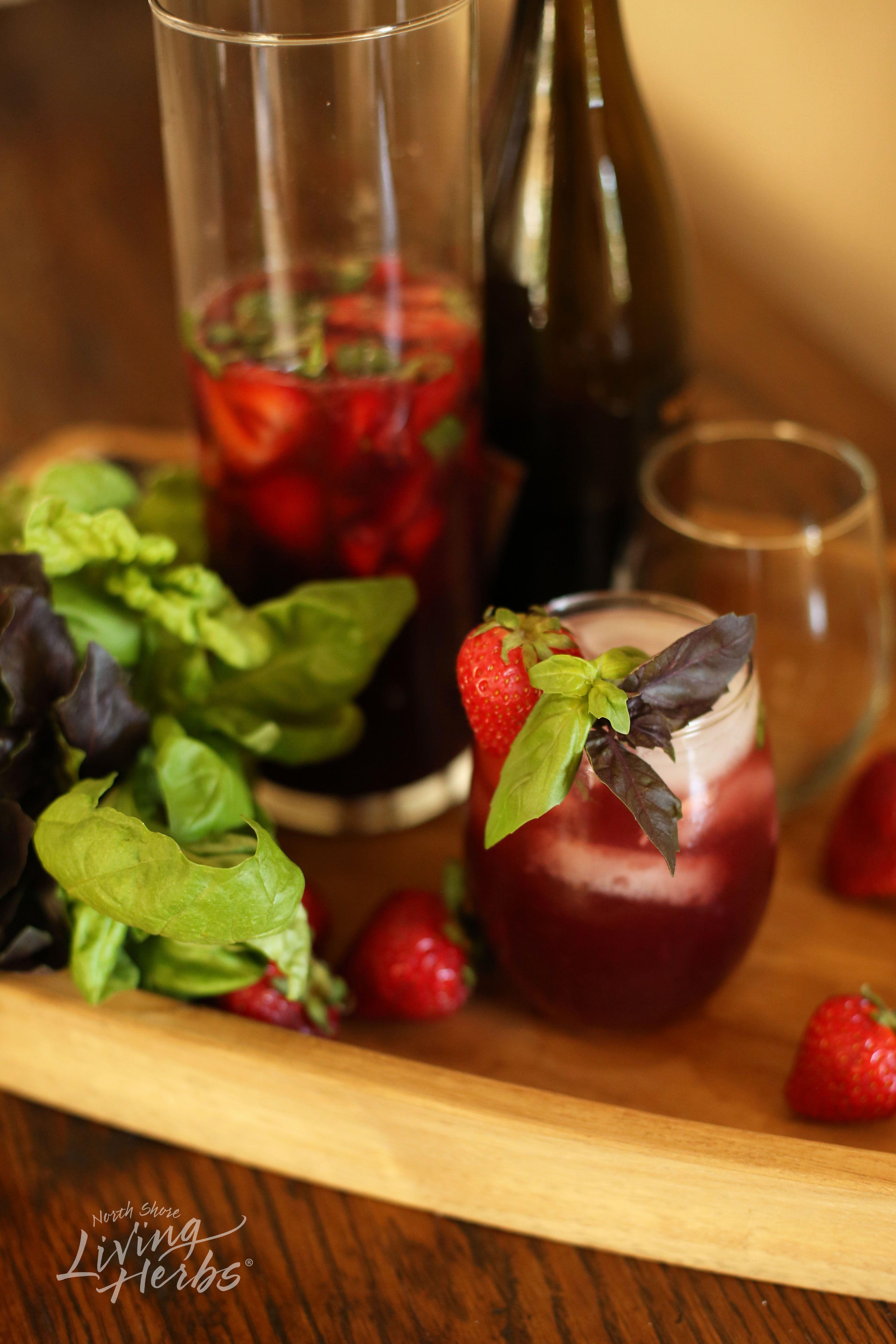 strawberry basil trio sangria recipe mosquito spray basil oil