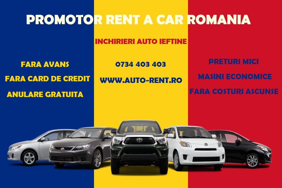 Promotor Rent a Car Romania Inchirieri ieftine de masini