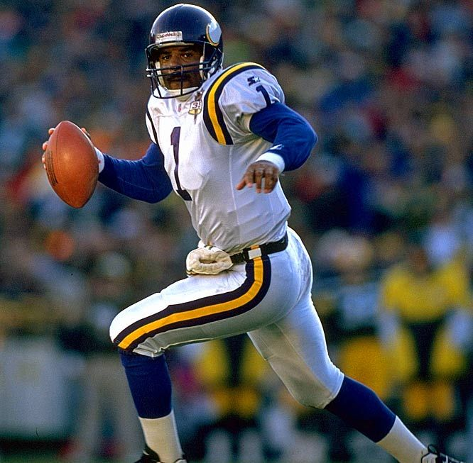6c63e9d9379 Warren Moon Quarterabck #1 - Moon came to the Vikings in his 11th year as a  pro via trade from the Houston Oilers, and had plenty left in the tank.