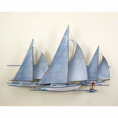 Fleet Of Sailing Ships Nautical Metal Wall Art Nautical Metal Wall Art Sailboat Wall Art Boat Wall Art