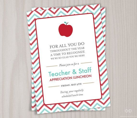 25+ best ideas about Teacher Appreciation Luncheon on Pinterest - Lunch Invitation Templates