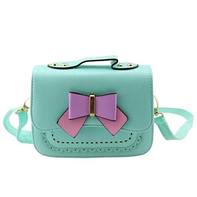 Dodocat Super Cute Design Small Blue Bowknot Messenger Bag Kids Shoulder Crossbody Handbag