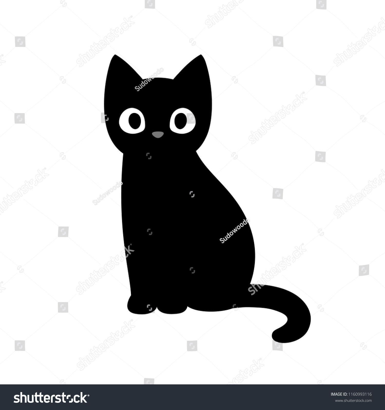 Cute Black Cat Drawings For Halloween In 2020 With Images