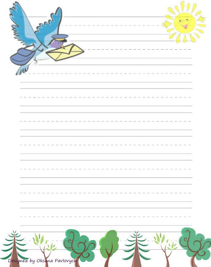 Letter Writing Paper  Papel De Carta Molduras